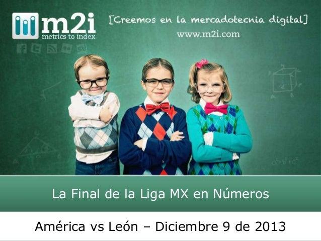 La Final de la Liga MX en Números América vs León – Diciembre 9 de 2013