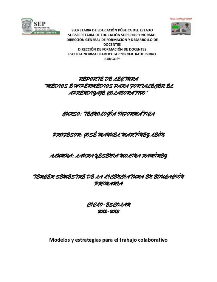SECRETARIA DE EDUCACIÓN PÚBLICA DEL ESTADO             SUBSECRETARIA DE EDUCACIÓN SUPERIOR Y NORMAL            DIRECCIÓN G...