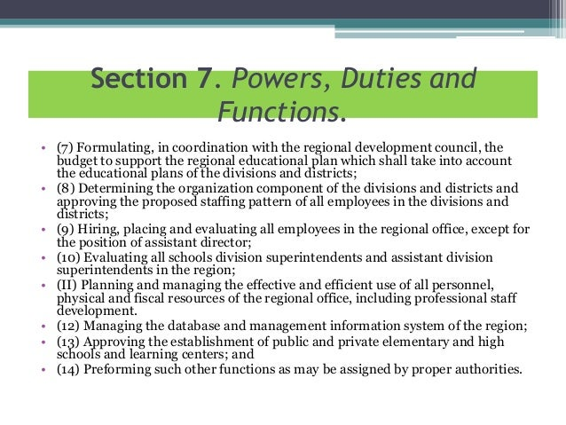 Organizational Structure of DEPED