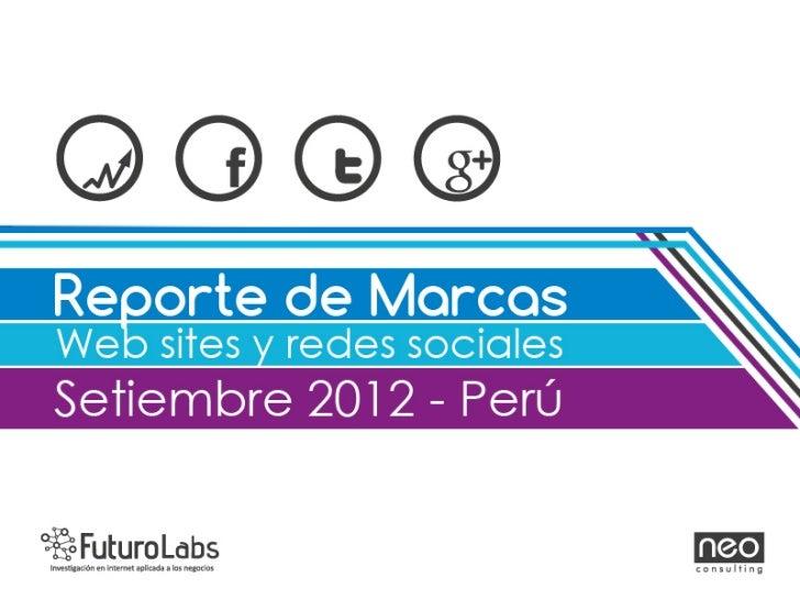 Reporte mensual de marcas en redes sociales - Setiembre - Futuro Labs