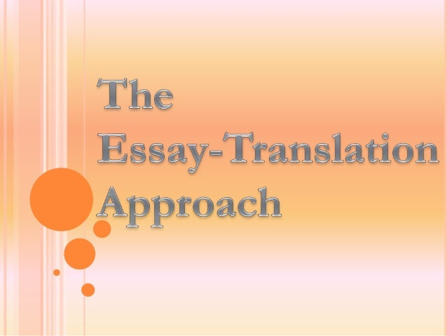 Types of essay approaches