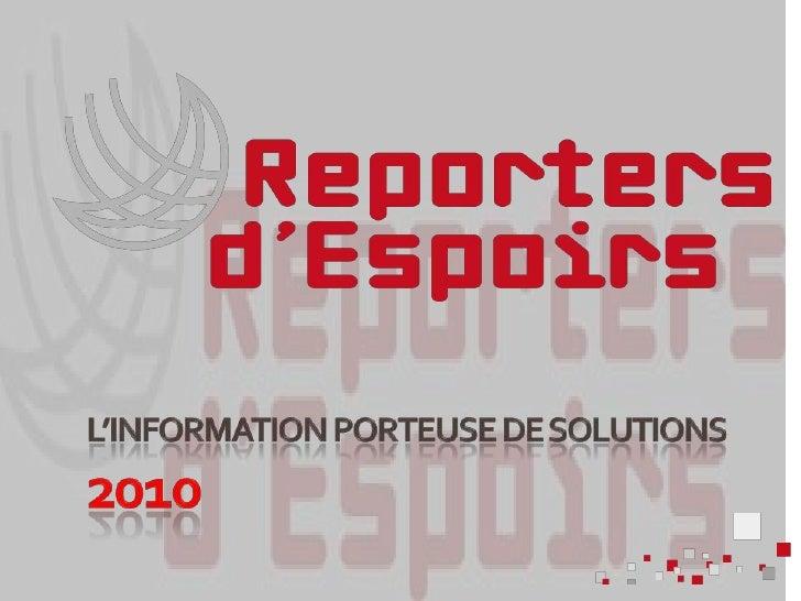 L'information porteuse de solutions2010<br />