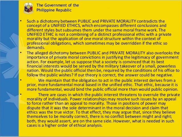 importance of ethic in government G iven the importance of ethics for the conduct of research, it should come as no surprise that many different professional associations, government agencies, and universities have adopted specific codes, rules, and policies relating to research ethics.