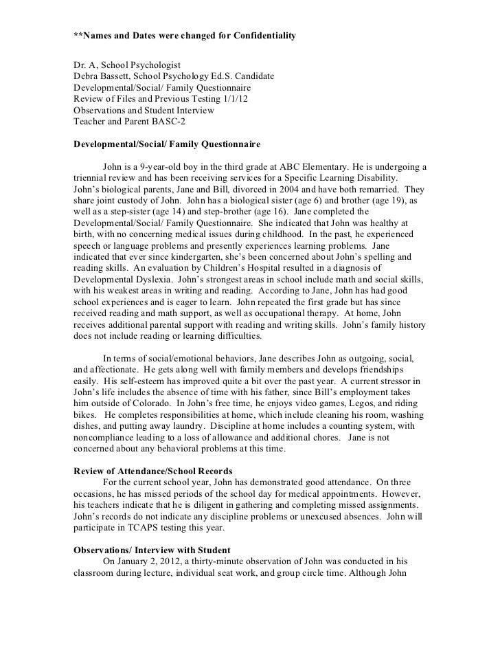 psychology experiment report format