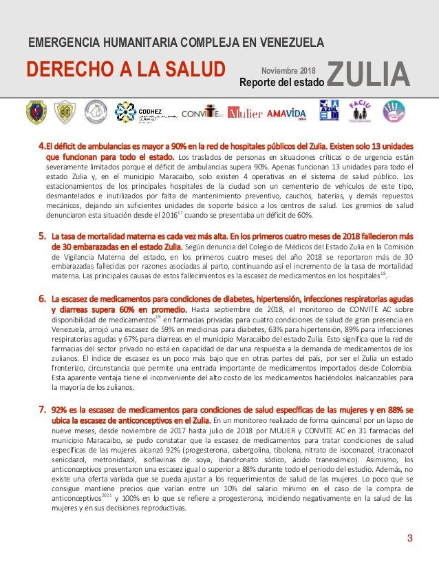 3 4.El déficit de ambulancias es mayor a 90% en la red de hospitales públicos del Zulia. Existen solo 13 unidades que func...