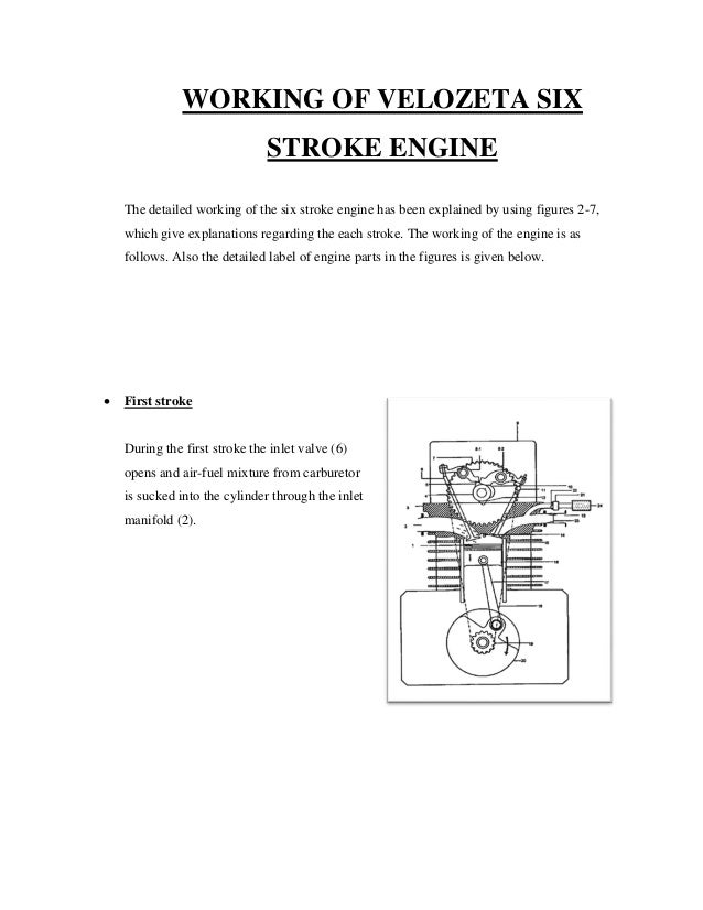 a seminar report on six stroke engine 1 stroke engine 15 working of velozeta six stroke engine