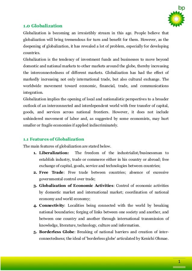 Conclusion british petroleum