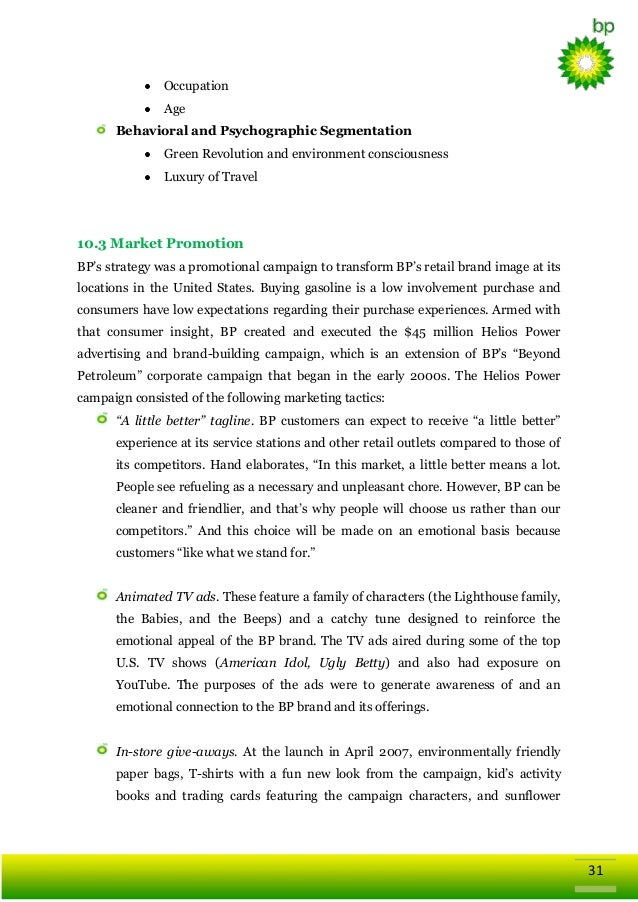 Global Business Strategy of British Petroleum (BP)
