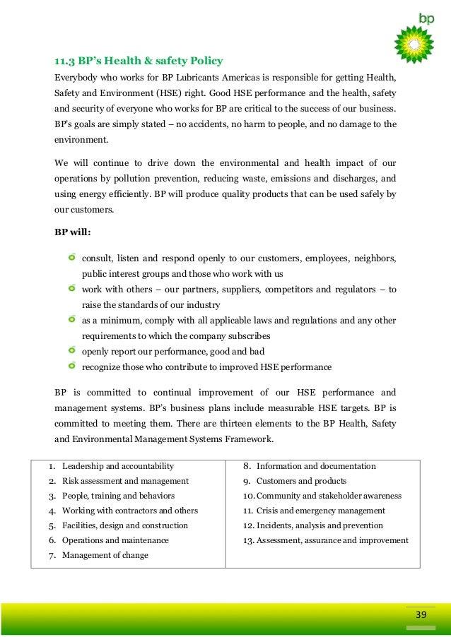 global business strategy of british petroleum bp