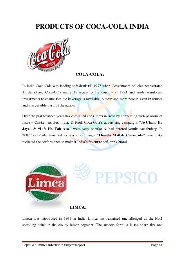 An Internship Report on PepsiCo