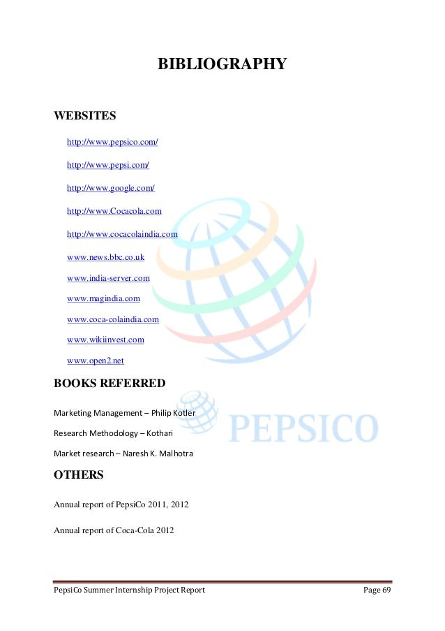 pepsico research paper Pepsico's journey toward an ethical and socially responsible culture company overview pepsico is one of the largest food and beverage companies in the world it manufactures and sells eighteen brands of beverages and snack foods and generates over $98 billion in retail sales.