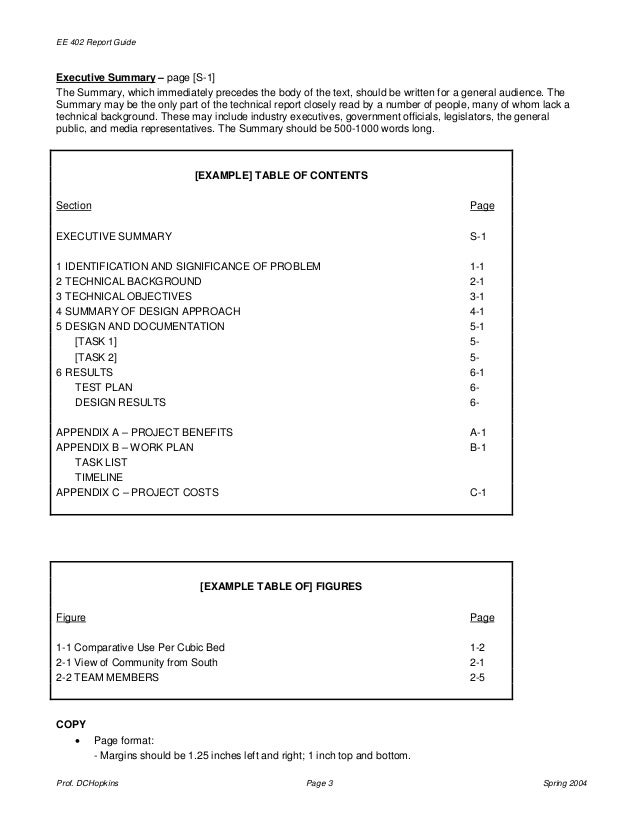 report format template sample from assignmentsupport com essay writin  dchopkins page 2 spring 2004 3