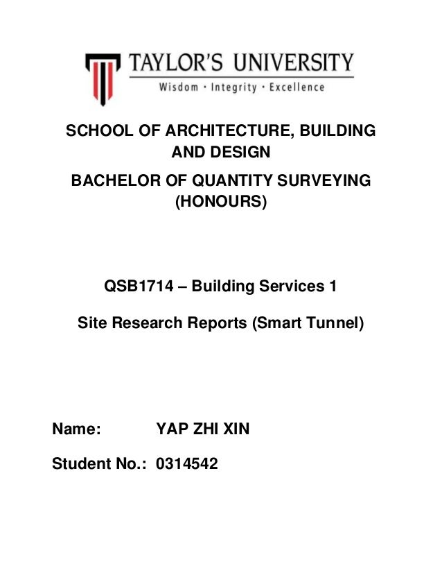 SCHOOL OF ARCHITECTURE, BUILDING AND DESIGN BACHELOR OF QUANTITY SURVEYING (HONOURS)  QSB1714 – Building Services 1 Site R...