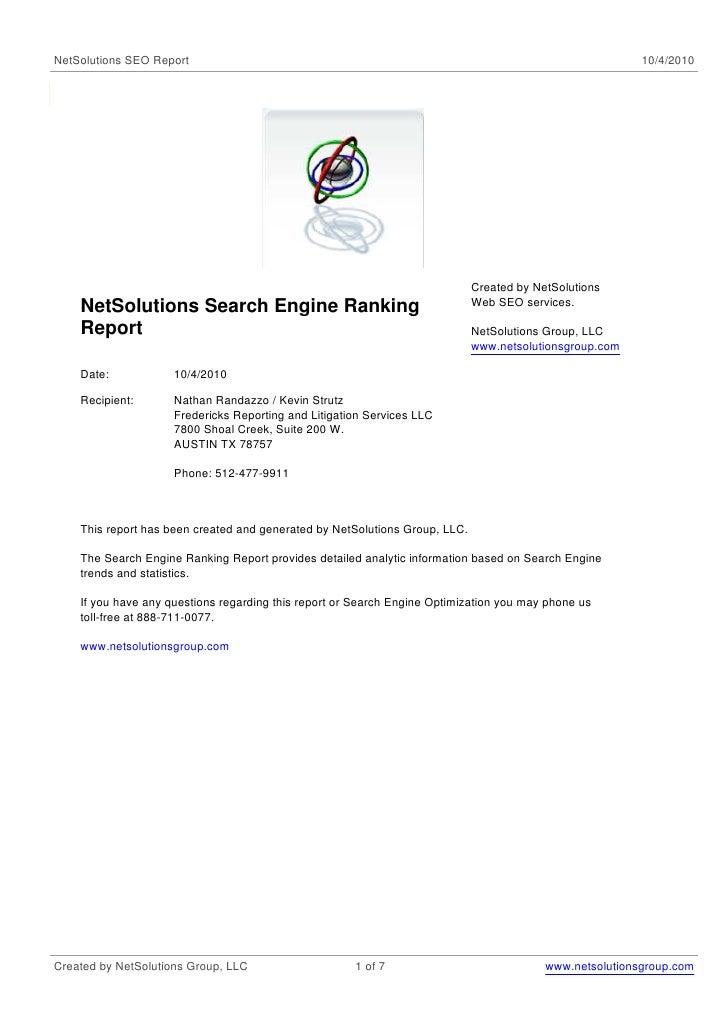 NetSolutions SEO Report                                                                                   10/4/2010       ...