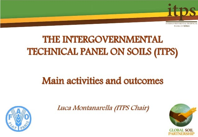 THE INTERGOVERNMENTAL TECHNICAL PANEL ON SOILS (ITPS) Main activities and outcomes Luca Montanarella (ITPS Chair)