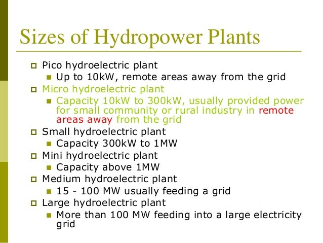 working principle of hydroelectric power plant pdf