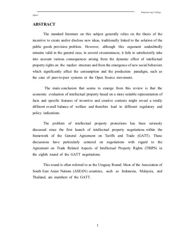 Engineering College, Ajmer ABSTRACT The standard literature on this subject generally relies on the thesis of the incentiv...