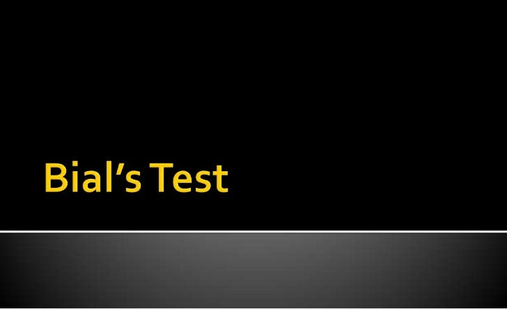 Bial's Test<br />