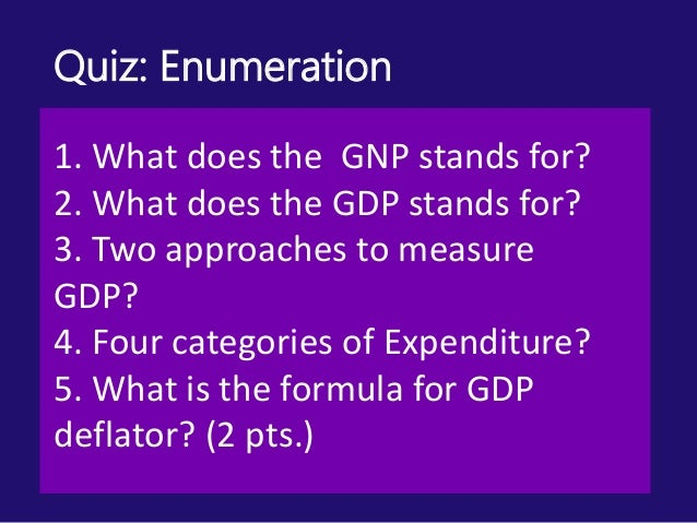 Report in ECOLRT gdp and gnp