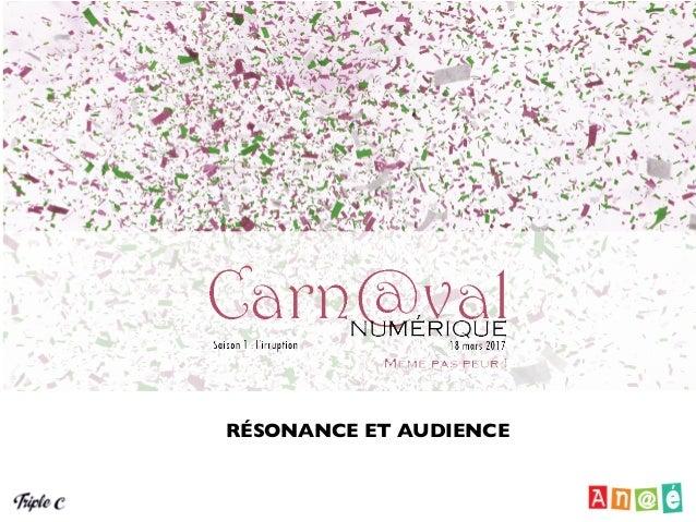 Rapport de Triple-C sur l'audience du Carn@val numérique 1re saison