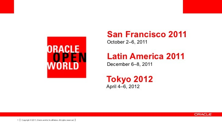 San Francisco 2011                                                                           October 2–6, 2011            ...