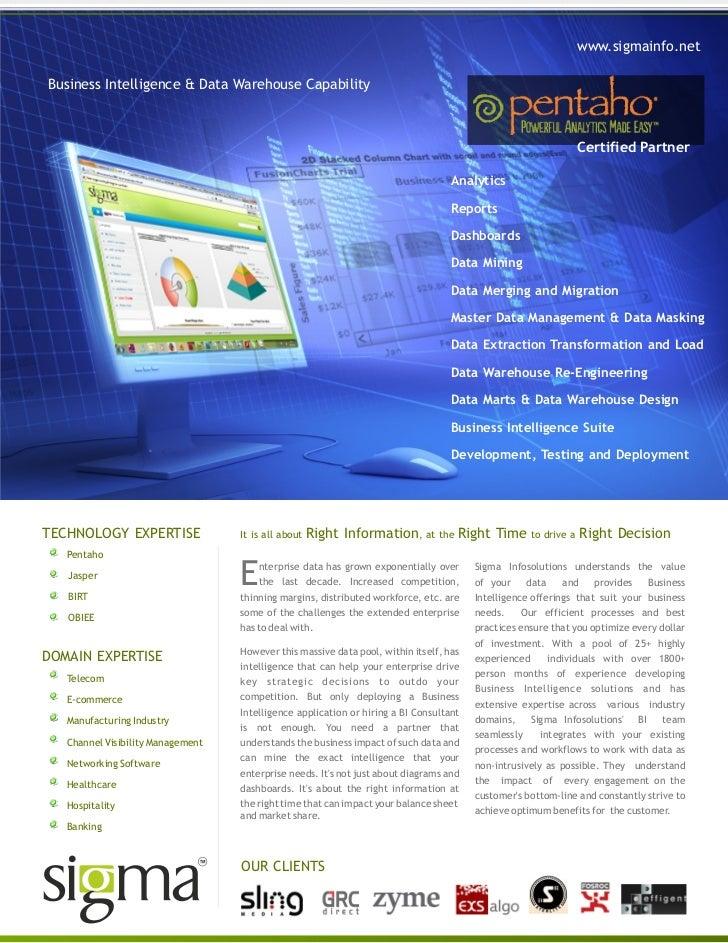 www.sigmainfo.netBusiness Intelligence & Data Warehouse Capability                                                        ...