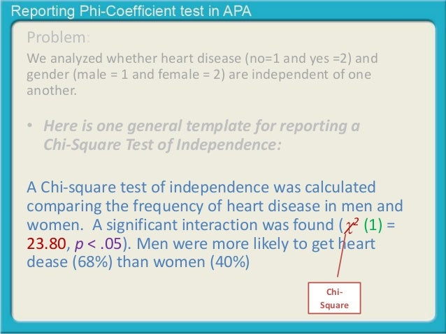 Reporting Chi Square Test Of Independence In Apa