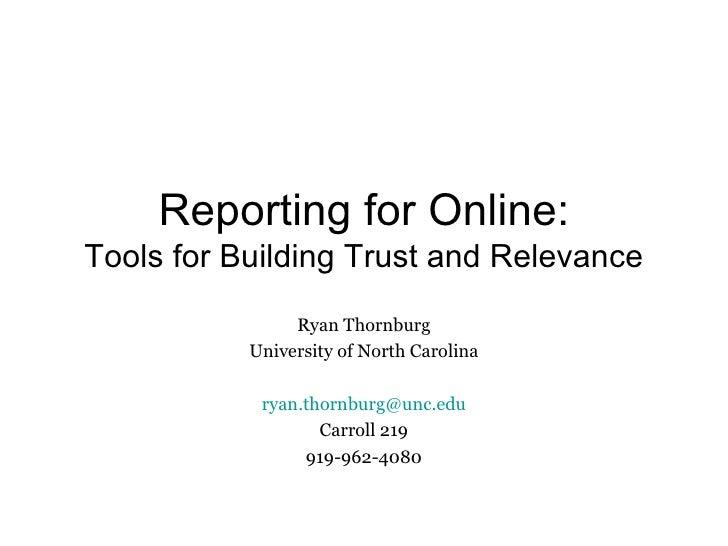 Reporting for New Media in Six Easy Steps! Slide 1
