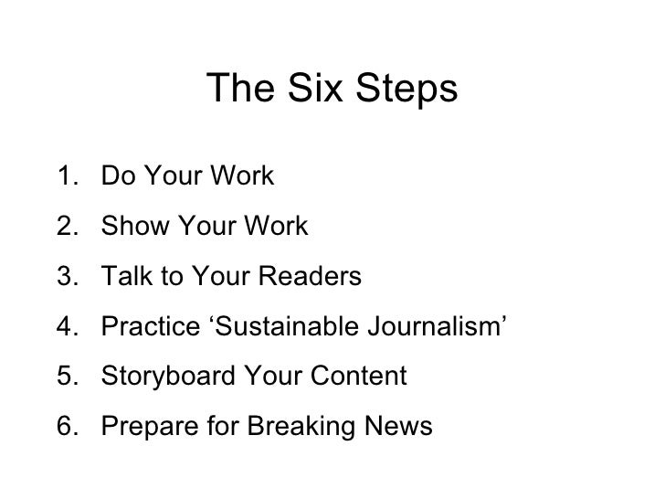 Reporting for New Media in Six Easy Steps! Slide 2