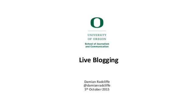 Live Blogging Damian Radcliffe @damianradcliffe 5th October 2015