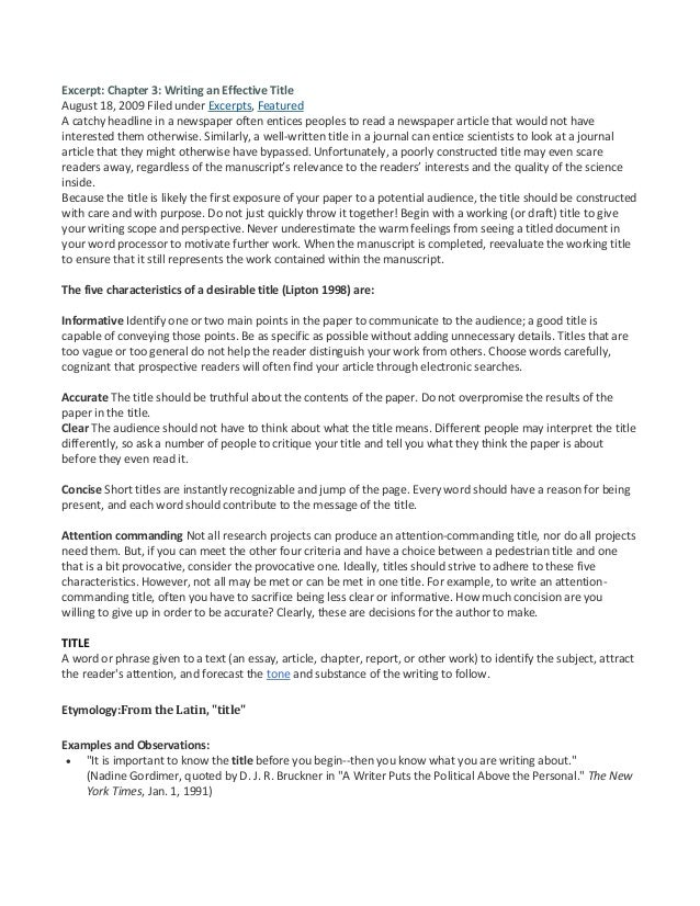 Free Essay Title Generator | Essay Topic Generator