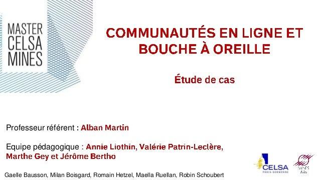 Professeur référent Equipe pédagogique :  Gaelle Bausson, Milan Boisgard, Romain Hetzel, Maella Ruellan, Robin Schoubert