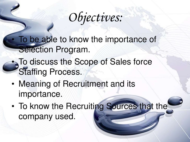 the importance of a good sales force selection Beginner's guide to salesforce  i read somewhere or may be heard in the sales force podcast that they  beginner's guide to salesforce certification.