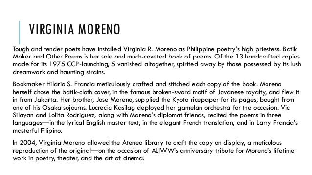 virginia r moreno poems