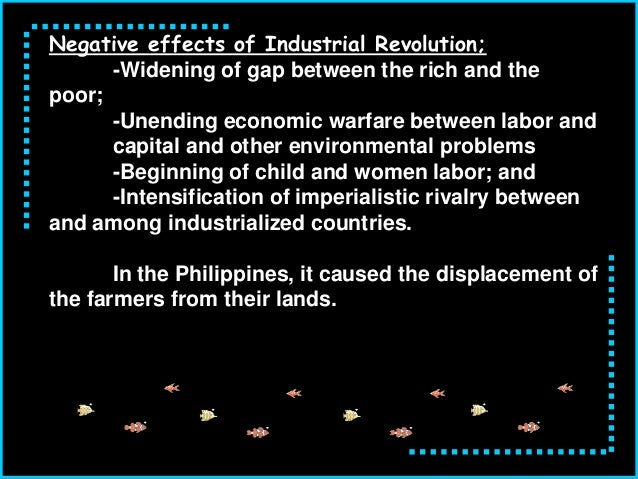 an analysis of the negative effects of the industrial revolution in the united states Big picture analysis & overview of the market revolution  the american  economy wasn't transformed by an industrial revolution during these years, and  the.