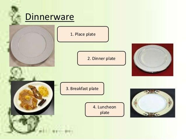 Luncheon plate; 12.  sc 1 st  SlideShare & Dining preparation \u0026 Table Setting