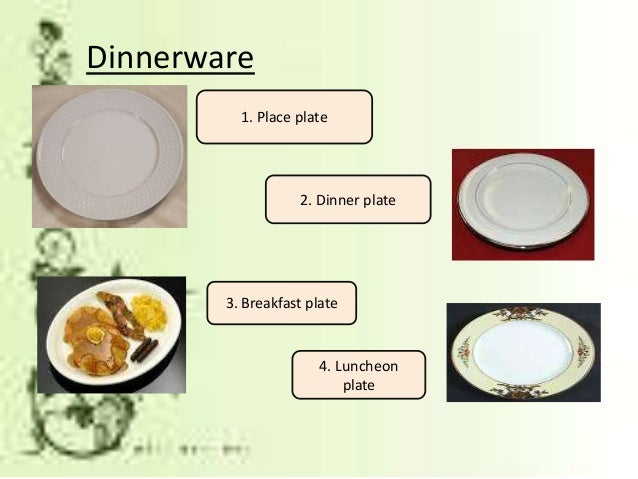 Luncheon plate; 12.  sc 1 st  SlideShare & Dining preparation u0026 Table Setting