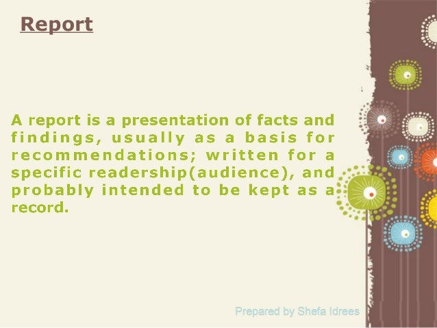 Report & its types Slide 2