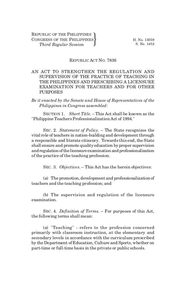 REPUBLIC OF THE PHILIPPINES CONGRESS OF THE PHILIPPINES H. No. 13059 Third Regular Session } S. No. 1452 REPUBLIC ACT NO. ...