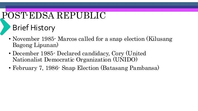 POST-EDSA REPUBLIC 1987 ConstitutionArticle XIV. Education, Science and Technology, Arts, Culture and Sports Section 1. Qu...