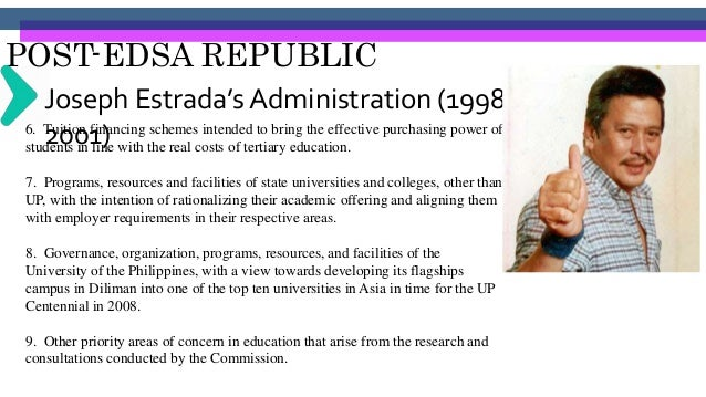 POST-EDSA REPUBLIC Joseph Estrada's Administration (1998- 2001)Sec. 5. Time Frame The Commission will start its work upon ...