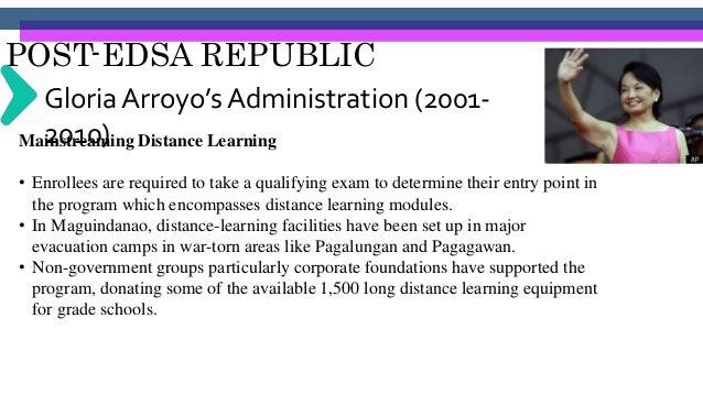 POST-EDSA REPUBLIC Benigno Aquino III's Administration (2001-2010) • June 24, 2010 Br. Armin Luistro as the Secretary of E...