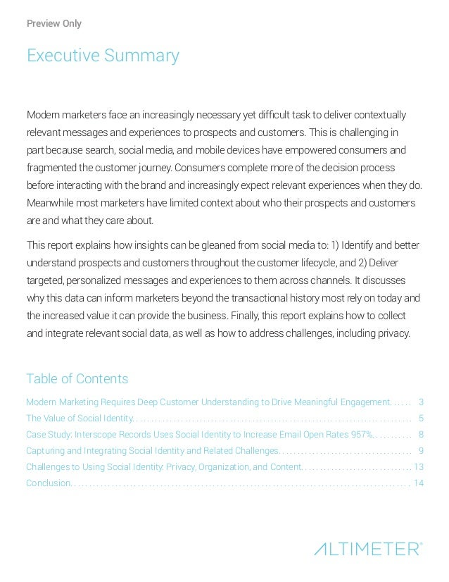Modern Marketing Requires Deep Customer Understanding to Drive Meaningful Engagement. . . . . . The Value of Social Identi...
