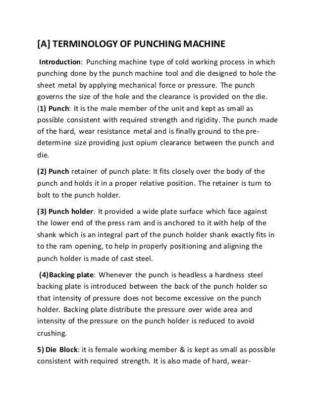 Hydraulic punching machine project report