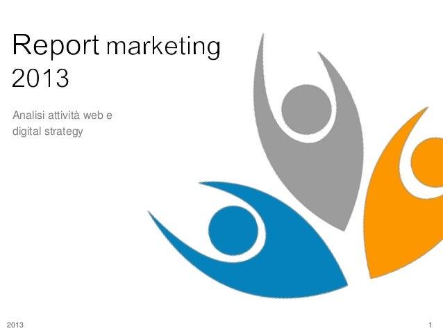 Analisi attività web e digital strategy  2013  1