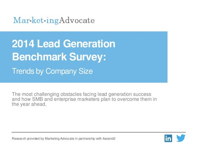 The most challenging obstacles facing lead generation success and how SMB and enterprise marketers plan to overcome them i...