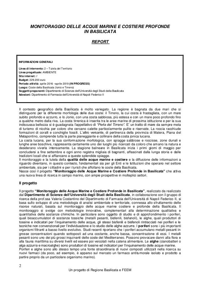 Report Monitoraggio Acque Marine_2 Slide 2