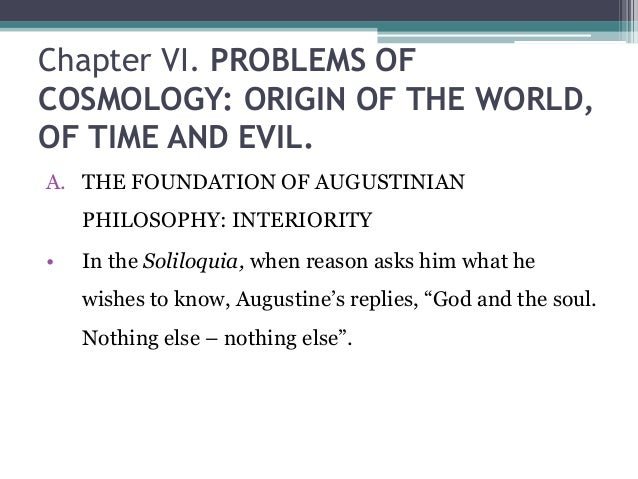 St augustine and the origin of evil