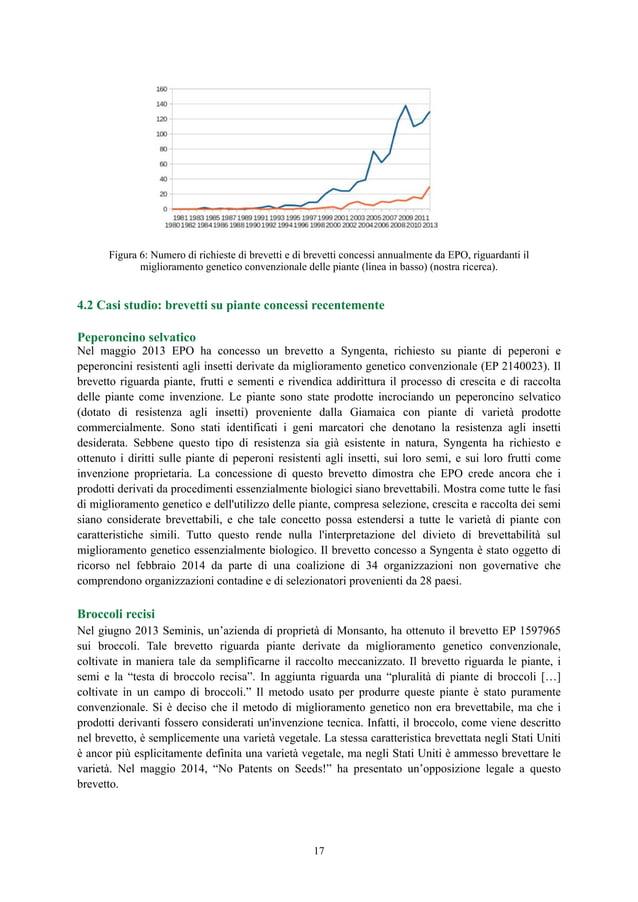 Figura 6: Numero di richieste di brevetti e di brevetti concessi annualmente da EPO, riguardanti il miglioramento genetico...