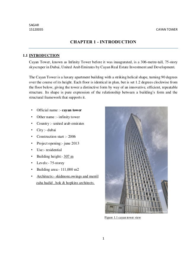 Report Of Cayan Tower